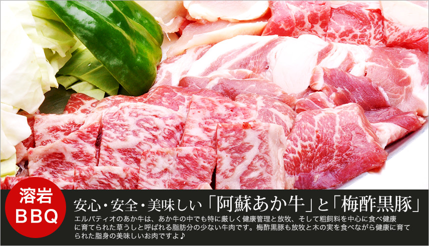 安心・安全・美味しい 「阿蘇あか牛」と「梅酢黒豚」