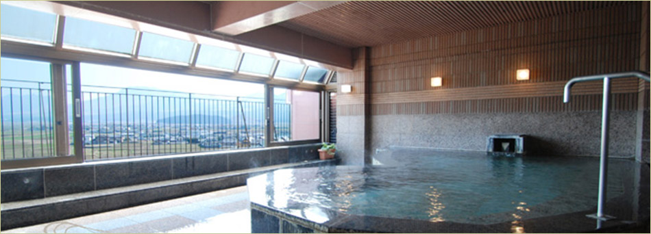 最上階大浴場「嶽湯客賑」