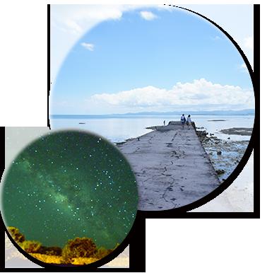海と星空の写真