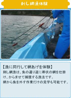 刺し網漁体験
